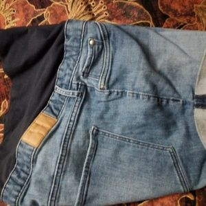Jean Shorts With Cuff - Maternity